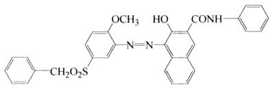57301-22-1 3-hydroxy-4-[[2-methoxy-5-[(phenylmethyl)sulfonyl]phenyl]azo]-N-phenyl-2-Naphthalenecarboxamide