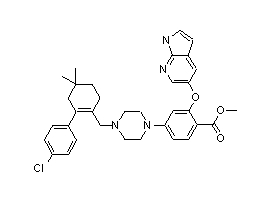 Methyl 2-[(1H-pyrrolo[2,3-b]pyridin-5-yl)oxy]-4-[4-[[2-(4-chlorophenyl)-4,4-dimethylcyclohex-1-enyl]methyl]piperazin-1-yl]benzoate 1235865-76-5