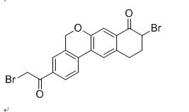 9-Bromo-3-(2-Bromo Acetyl)-10,11-Dihydro-5H-dibenzo(c,g) Chromen-8(9H)-one 1438383-89-1