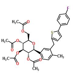 866607-35-4 (2R,3R,4R,5S,6S)-2-(acetoxymethyl)-6-(3-((5-(4-fluorophenyl)thiophen-2-yl)methyl)-4-methylphenyl)tetrahydro-2H-pyran-3,4,5-triyl triacetate