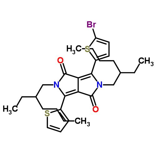 1308671-90-0 2,5-bis(2-ethylhexyl)-3-(5-broMo-thiophene-2-yl)-6-(thiophene-2-yl)-pyrrolo[3,4-c]pyrrole-1,4-dione