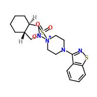 (3aR,7aR)-4'-(1,2-苯并异噻唑-3-基)八氢螺[2H-异吲哚-2,1'-哌嗪]甲磺酸盐 186204-37-5