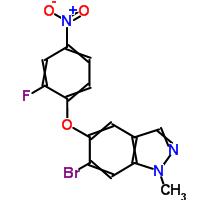 1206800-24-9 6-bromo-5-(2-fluoro-4-nitrophenoxy)-1-methyl-1H-indazole