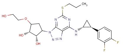 274693-27-5 (1S,2S,3R,5S)-3-[7-[(1R,2S)-2-(3,4-Difluorophenyl)cyclopropylamino]-5-(propylsulfanyl)-3H-[1,2,3]triazolo[4,5-d]pyrimidin-3-yl]-5-(2-hydroxyethoxy)cyclopentane-1,2-diol
