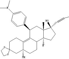 84371-64-2 Estr-9-en-3-one, 11-[4-(dimethylamino)phenyl]-5,17-dihydroxy-17-(1-propynyl)-cyclic 1,2-ethanediyl acetal,(5a,11b,17b)-