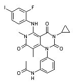 871700-17-3 N-[3-[3-Cyclopropyl-5-[(2-fluoro-4-iodophenyl)amino]-3,4,6,7-tetrahydro-6,8-dimethyl-2,4,7-trioxopyrido[4,3-d]pyrimidin-1(2H)-yl]phenyl]acetamide