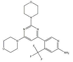 944396-07-0;1202777-78-3 5-[2,6-Di(4-morpholinyl)-4-pyrimidinyl]-4-(trifluoromethyl)-2-pyridinamine
