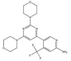 944396-07-0;1202777-78-3 5-[2,6-Di(4-morpholinyl)-4-pyrimidinyl]-4-(trifluoromethyl)-2-pyridinamine