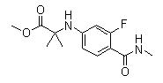 N-[3-氟-4-[(甲基氨基)羰基]苯基]-2-甲基丙氨酸甲酯 1332524-01-2