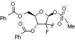 2-deoxy-2,2-difluoro-D-ribofuranose-3,5-dibenzoate-1-methanesulfonate 122111-11-9
