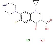 盐酸环丙沙星(一水物) 86393-32-0