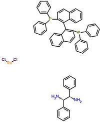 二氯[(R)-(+)-2,2'-双(二苯基次膦)-1,1'-双萘][(1S,2S)-(-)-1,2-二苯基乙二胺]钌(II) 212210-87-2;329736-05-2