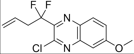 1799733-46-2 3-chloro-2-(1,1-difluorobut-3-enyl)-6-methoxyquinoxaline