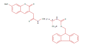 1207602-46-7 L-Lysine, N2-[(9H-fluoren-9-ylmethoxy)carbonyl]-N6-[2-(7-methoxy-2-oxo-2H-1-benzopyran-3-yl)acetyl]-