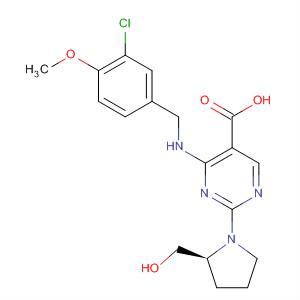 330785-84-7 (S)-4-(3-Chloro-4-methoxybenzylamino)-5-carboxy-2-(2-hydroxymethyl-1-pyrrolidinyl)pyrimidine