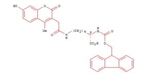 1157859-81-8 L-Lysine, N2-[(9H-fluoren-9-ylmethoxy)carbonyl]-N6-[2-(7-hydroxy-4-methyl-2-oxo-2H-1-benzopyran-3-yl)acetyl]-