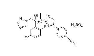 1815601-68-3 4-(2-((2R,3R)-3-(2,5-Difluorophenyl)-3-hydroxy-4-(1H-1,2,4-triazol-1-yl)butan-2-yl)thiazol-4-yl)benzonitrile sulfate