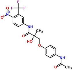 401900-40-1 N-[4-Nitro-3-(trifluoromethyl)phenyl]-(2S)-3-[4-(acetylamino)phenoxy]-2-hydroxy-2-methylpropanamide