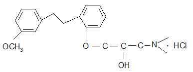 1-(Dimethylamino)-3-[2-[2-(3-methoxyphenyl)ethyl]phenoxy]-2-propanol hydrochloride 135261-74-4