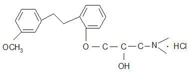 1-(二甲基氨基)-3-[2-[2-(3-甲氧基苯基)乙基]苯氧基]-2-丙醇盐酸盐 135261-74-4
