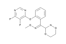 3-{1-[2-(4,5-二氟嘧啶-6-基氧基)-苯基]-1-(甲氧基亚氨基)-甲基}-5,6-二氢-1,4,2-二�f嗪 193741-67-2