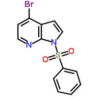 4-溴-1-(苯磺酰基)-1H-吡咯并[2,3-B]吡啶 889939-25-7