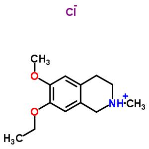 63937-96-2 7-ethoxy-6-methoxy-2-methyl-1,2,3,4-tetrahydroisoquinolinium chloride