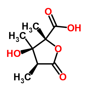 26543-09-9 (2R,3R,4S)-3-hydroxy-2,3,4-trimethyl-5-oxotetrahydrofuran-2-carboxylic acid (non-preferred name)