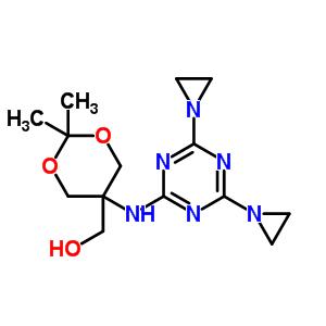 67026-12-4;89286-76-0 (5-{[4,6-bis(aziridin-1-yl)-1,3,5-triazin-2-yl]amino}-2,2-dimethyl-1,3-dioxan-5-yl)methanol