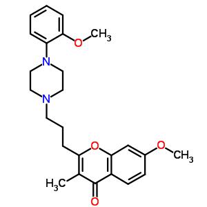 69103-91-9 7-methoxy-2-{3-[4-(2-methoxyphenyl)piperazin-1-yl]propyl}-3-methyl-4H-chromen-4-one