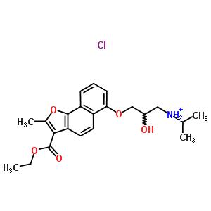 76410-23-6 3-{[3-(ethoxycarbonyl)-2-methylnaphtho[1,2-b]furan-6-yl]oxy}-2-hydroxy-N-(propan-2-yl)propan-1-aminium chloride