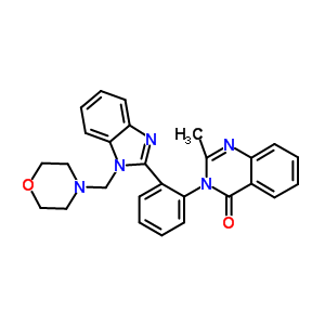 91045-37-3 2-methyl-3-{2-[1-(morpholin-4-ylmethyl)-1H-benzimidazol-2-yl]phenyl}quinazolin-4(3H)-one