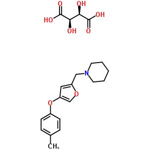101833-20-9 1-{[4-(4-methylphenoxy)furan-2-yl]methyl}piperidine 2,3-dihydroxybutanedioate (1:1)