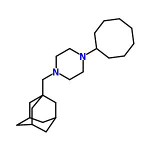 101975-82-0 1-cyclooctyl-4-(tricyclo[3.3.1.1~3,7~]dec-1-ylmethyl)piperazine