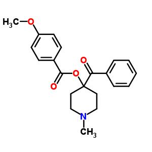 71266-46-1 4-benzoyl-1-methylpiperidin-4-yl 4-methoxybenzoate