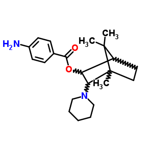77156-02-6 4,7,7-trimethyl-3-(piperidin-1-yl)bicyclo[2.2.1]hept-2-yl 4-aminobenzoate