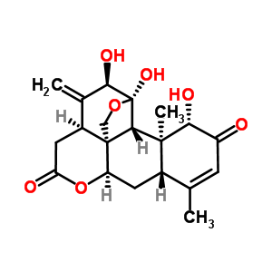 981-15-7 (1beta,11alpha,12alpha)-1,11,12-trihydroxy-11,20-epoxypicrasa-3,13(21)-diene-2,16-dione