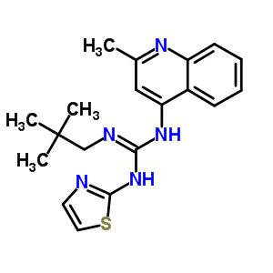 71079-48-6 2-(2,2-dimethylpropyl)-1-(2-methylquinolin-4-yl)-3-(1,3-thiazol-2-yl)guanidine