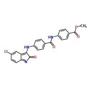 84496-05-9 methyl 4-({4-[(5-chloro-2-oxo-2H-indol-3-yl)amino]benzoyl}amino)benzoate