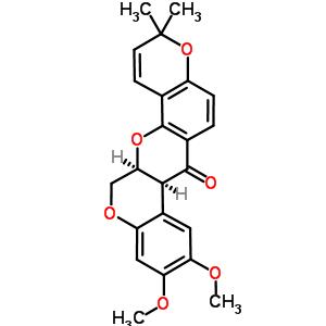 522-17-8 (7aS,13aS)-9,10-dimethoxy-3,3-dimethyl-13,13a-dihydro-3H-chromeno[3,4-b]pyrano[2,3-h]chromen-7(7aH)-one
