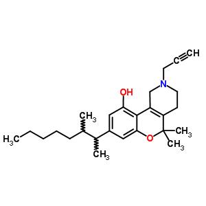 26685-57-4 5,5-dimethyl-8-(3-methyloctan-2-yl)-2-(prop-2-yn-1-yl)-1,3,4,5-tetrahydro-2H-chromeno[4,3-c]pyridin-10-ol