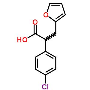 3459-56-1 2-(4-chlorophenyl)-3-(furan-2-yl)propanoic acid