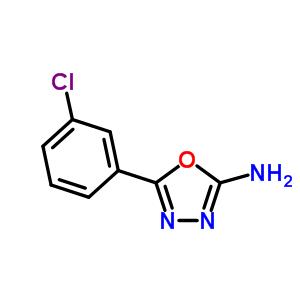 1673-45-6 5-(3-chlorophenyl)-1,3,4-oxadiazol-2-amine