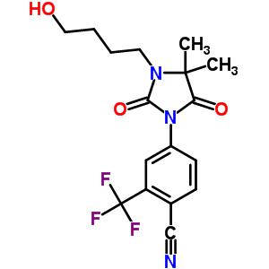 154992-24-2 4-[3-(4-hydroxybutyl)-4,4-dimethyl-2,5-dioxoimidazolidin-1-yl]-2-(trifluoromethyl)benzonitrile