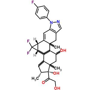 17720-56-8 1-[(1R,2R,3cS,4aS)-4,4-difluoro-6-(4-fluorophenyl)-1,10-dihydroxy-2,9a,11a-trimethyl-2,3,3a,3b,3c,4,4a,6,9,9a,9b,10,11,11a-tetradecahydro-1H-cyclopenta[5,6]cyclopropa[3,4]naphtho[1,2-f]indazol-1-yl]-2-hydroxyethanone