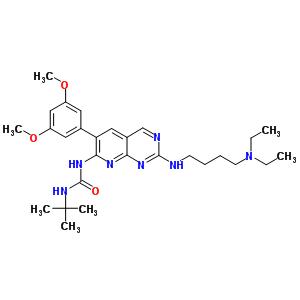 219580-11-7 1-tert-butyl-3-[2-{[4-(diethylamino)butyl]amino}-6-(3,5-dimethoxyphenyl)pyrido[2,3-d]pyrimidin-7-yl]urea