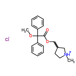 3043-11-6 3-({[methoxy(diphenyl)acetyl]oxy}methyl)-1-methylpyrrolidinium chloride