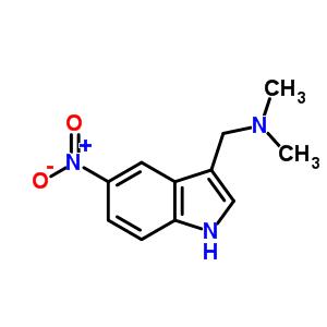 3414-64-0 N,N-dimethyl-1-(5-nitro-1H-indol-3-yl)methanamine