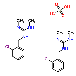 51-13-8;73-64-3 1-(2-chlorobenzyl)-2,3-dimethylguanidine sulfate (2:1)
