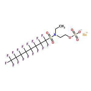 2624-80-8 sodium 2-{ethyl[(heptadecafluorooctyl)sulfonyl]amino}ethyl sulfate